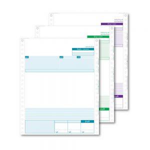 ML ฟอร์มอเนกประสงค์กระดาษต่อเนื่องเคมี 3ชั้น