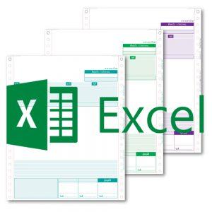ไฟล์ Excel สำหรับ (ML) ฟอร์มอเนกประสงค์กระดาษต่อเนื่อง 3 ชั้น ขนาด 9x11 นิ้ว